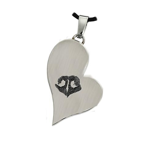 Fur Eternity Personal Pet Teardrop Heart Pendant w/Cord