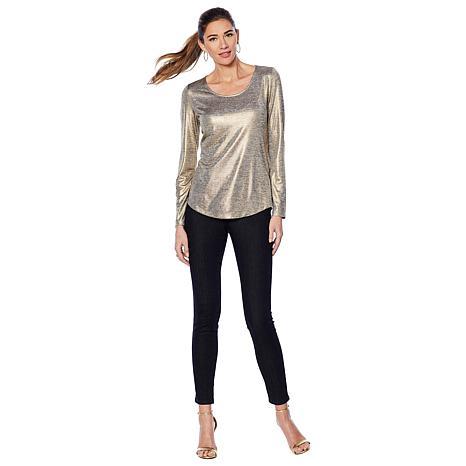 7bd0ed90764e1 G by Giuliana Metallic Long-Sleeve Top - 8845620