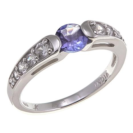 Gem RoManse by Robert Manse 0.76ctw Tanzanite and Zircon Ring