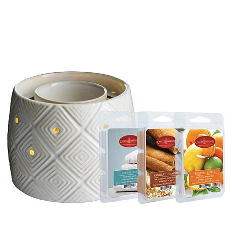 Geometric Fan Fragrance Warmer with 3 Wax Melts