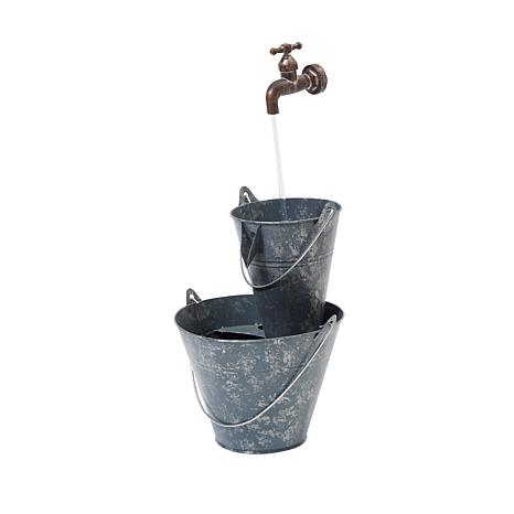 "Gerson 23.6"" Electric Antique Pail Water Fountain"
