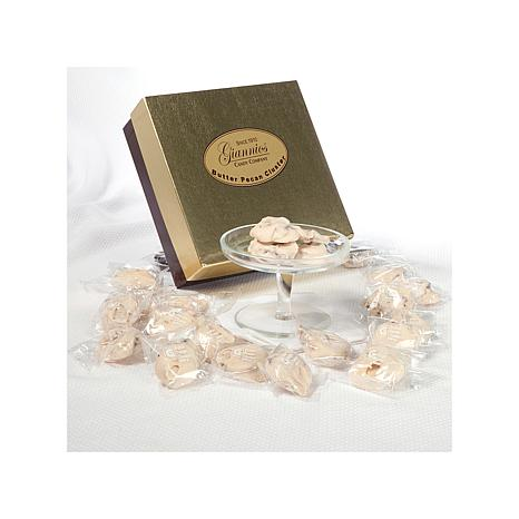 Giannios 1 lb. of Butter Pecan Clusters in a Golden Box