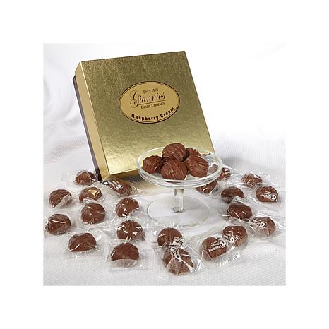 Giannios 1 lb. of Raspberry Creams in a Golden Box