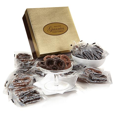 Giannios 3.5 lbs. Chocolate-Covered Pretzels