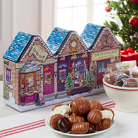 Giannios Candy 3lb Holiday Tin Assorted Chocolates AS - Rec. by 12/13