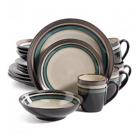 Gibson Elite Lewisville 16-piece Dinnerware Set - Teal