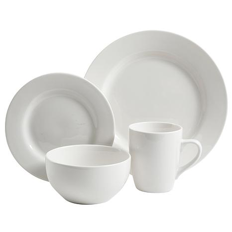 Gibson Gracious Dining 16-piece Ceramic Hotelware Set - White