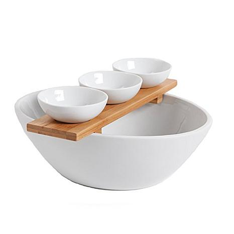 Gibson Gracious Dining 5-piece Tidbit Serving Set with Bamboo Tray