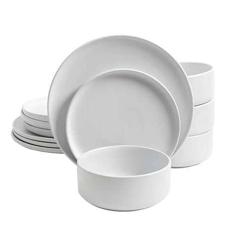 Gibson Home Open Range 12-piece Dinnerware Set in Matte White
