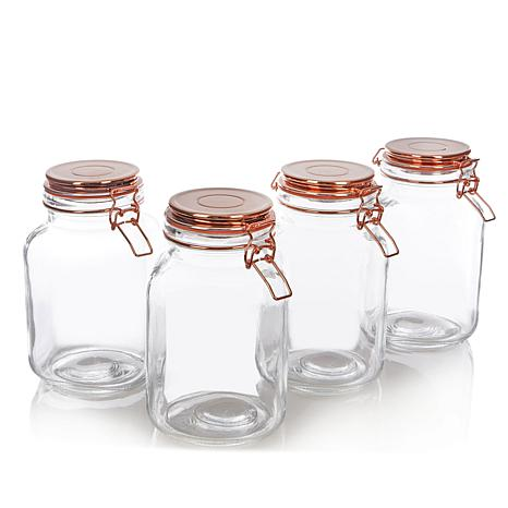 Go Green by Kinetic 4-pack 68 oz. Copper Canning Jars