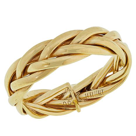 7d4665b00 Golden Treasures 14K Italian Gold Elegant Braided Ring - 8933582 | HSN