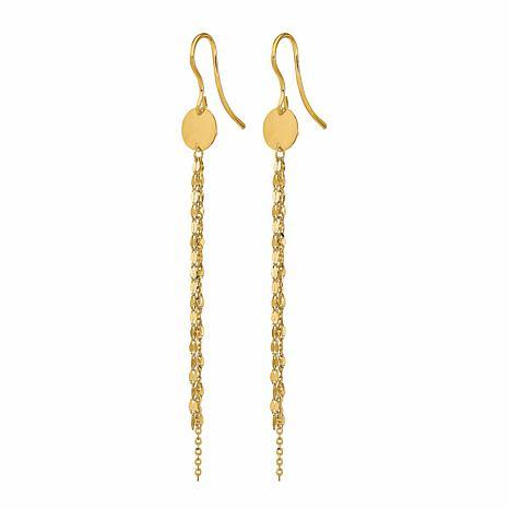 Golden Treasures 14K Polished Chain Dangle Earrings