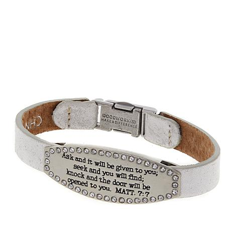 """Good Work(s) """"Ask and It Will Be Given to You"""" 7"""" Bracelet"""