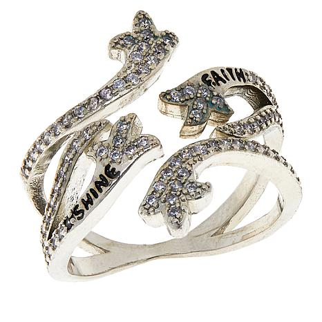 "Good Work(s) ""Prosper"" Inspirational Adjustable Ring"