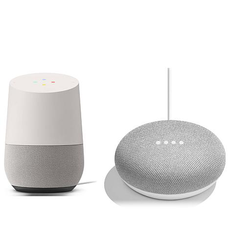 Google Home & Mini Voice Activated Smart Speakers Bundle