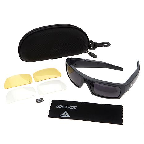 af3f7991b12 GoVision Polarized 1080p HD Video-Capture Sunglasses with Built-In  Bluetooth 4.0 Speakers