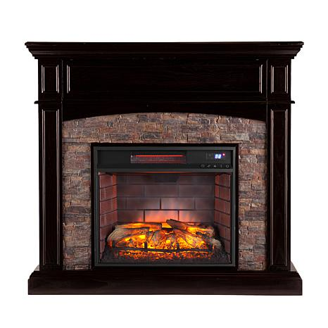 ... Grantham Simulated Stone Infrared Electric Fireplace ... - Grantham Simulated Stone Corner Infrared Electric Media Fireplace