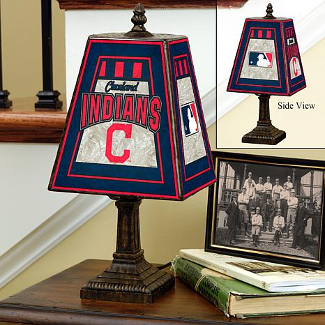 Handpainted art glass team lamp cleveland indians mlb 4508216 handpainted art glass team lamp mozeypictures Choice Image