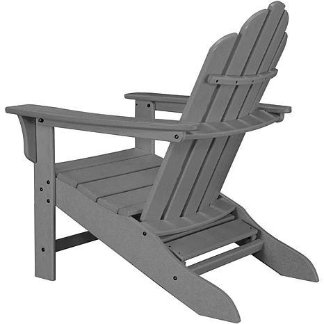 ... Hanover Adirondack Chair With Ottoman   Grey