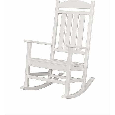 Hanover All-Weather Pineapple Cay Porch Rocker - White