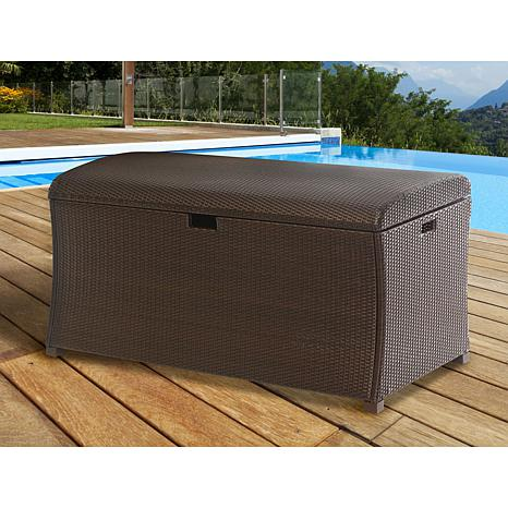 ... Hanover Large Resin Outdoor Storage Deck Box