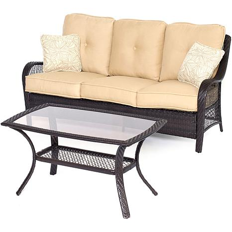 Hanover Orleans 2-Piece Patio Set - Sahara Sand