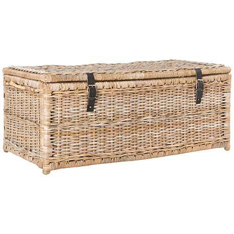 "happimess Caden 46"" Wicker Storage Trunk"