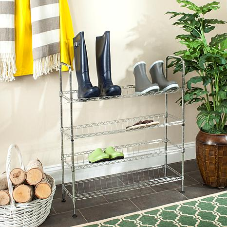 Happimess Lidia Wire Adjustable Shoe Rack   Chrome