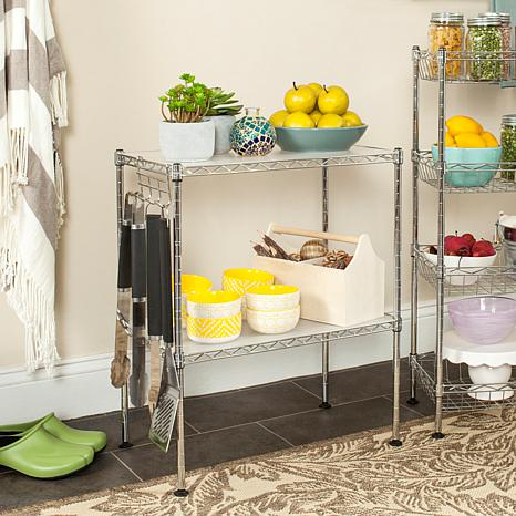 Happimess Lucien 2 Tier Wire Microwave Rack - Chrome