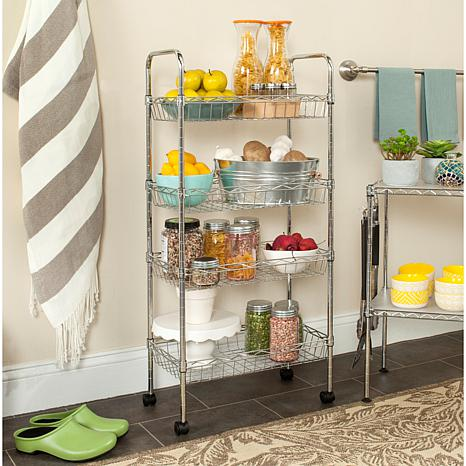 Happimess Pierre  Wire Adjustable Mini Trolley - Chrome