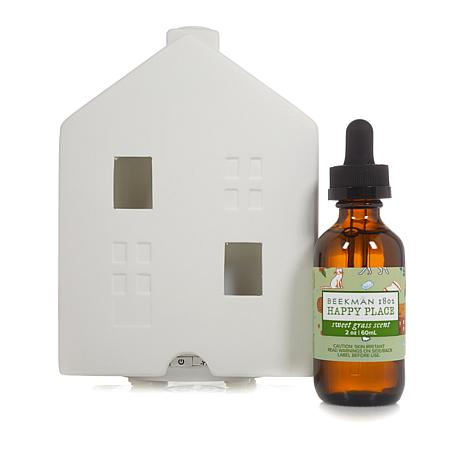 Happy Place Ultrasonic House Diffuser w/2 oz. Fragrance - Sweet Grass
