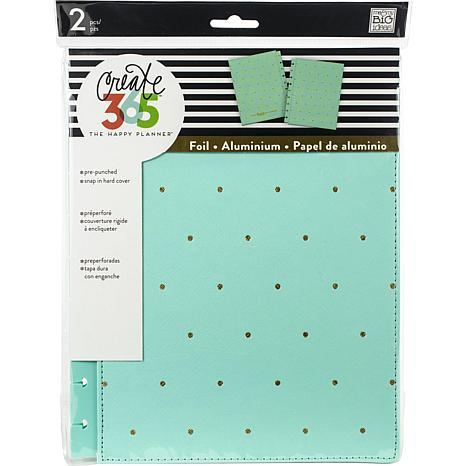 Happy Planner Medium Snap-In Hard Planner Cover - Turquoise Gold Dots