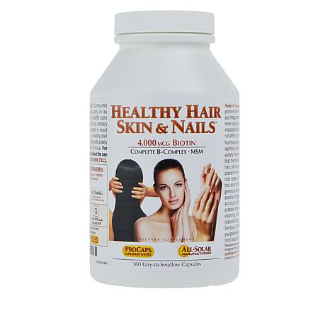 Healthy Hair, Skin and Nails - 360 Capsules