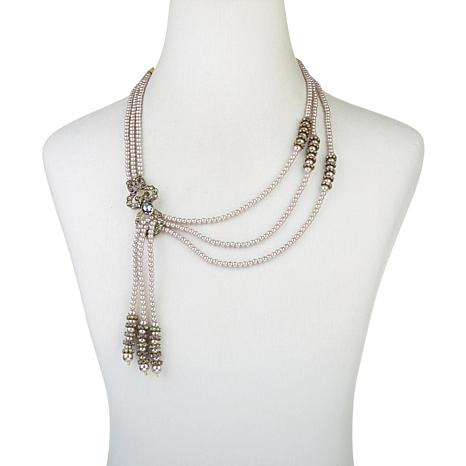 "Heidi Daus ""A Lot of Swag"" 3-Strand Beaded  Necklace"
