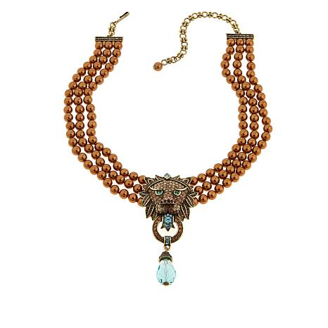 "Heidi Daus ""Bling of the Jungle"" 3-Strand Drop Necklace"