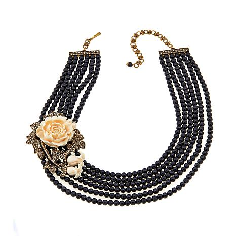 "Heidi Daus ""Captivating Cabbage Rose"" 6-Strand Necklace"