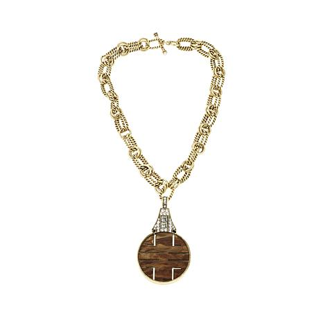 "Heidi Daus ""Chinoise Chic"" Reversible Drop  Necklace"
