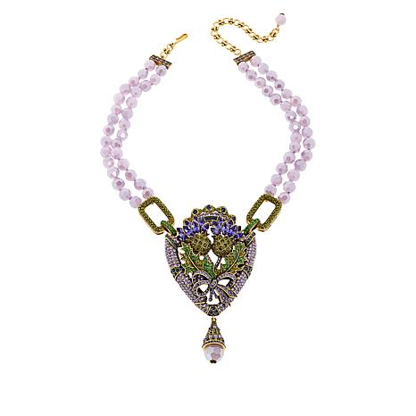 """Heidi Daus """"Expression of Love"""" 2-Strand Crystal Drop Necklace"""