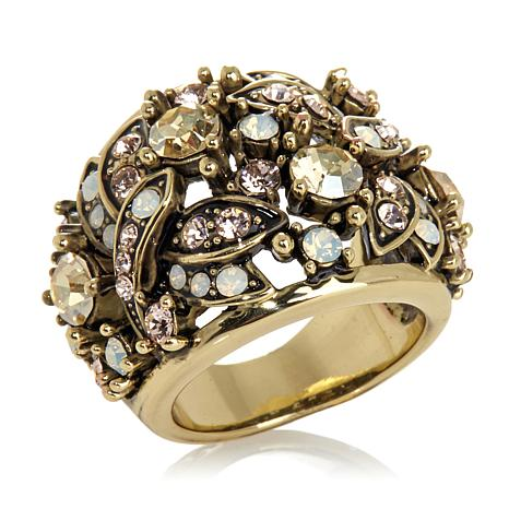 "Heidi Daus ""Fantasy in Flight"" Crystal Band Ring"