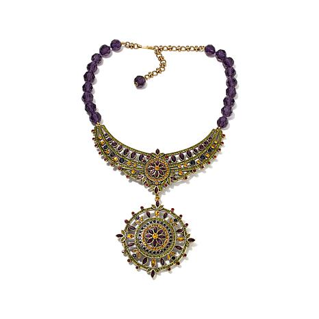 """Heidi Daus """"French Twist"""" Necklace with Removable Pin"""