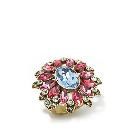 "Heidi Daus ""Glorious Garden"" Crystal Statement Ring"