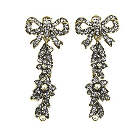"Heidi Daus ""Guilded Garland"" Crystal Drop Earrings"