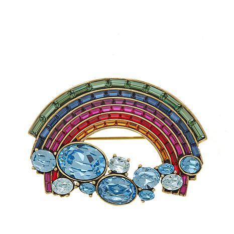 "Heidi Daus ""Happiness is a Rainbow"" Crystal Pin"
