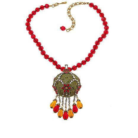 """Heidi Daus """"Holiday Sparkle"""" Pendant/Pin and  Necklace"""
