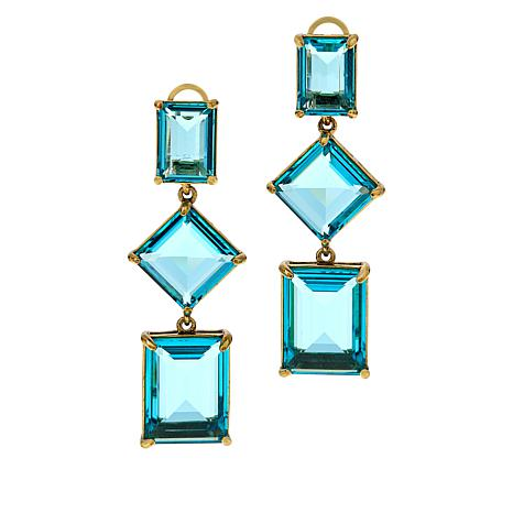 "Heidi Daus ""Hot Rocks"" Geometric Dangle Earrings"