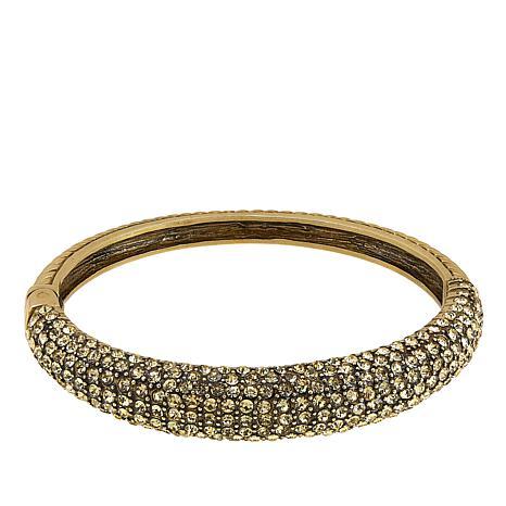 "Heidi Daus ""Hugs From Heidi"" Crystal-Accented Bangle Bracelet"
