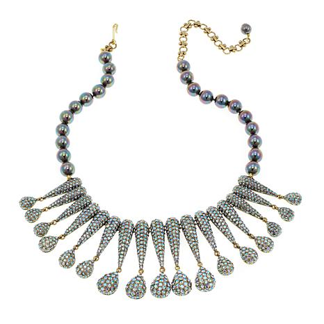 "Heidi Daus ""Infinite Glamour"" Beaded Crystal Drop Necklace"