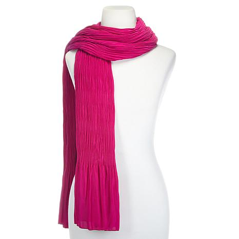 Heidi Daus Live Stream Pleated Scarf
