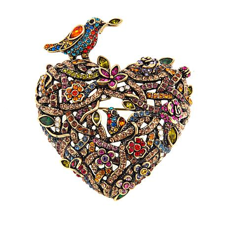 "Heidi Daus ""Love Nest"" Crystal Pin"