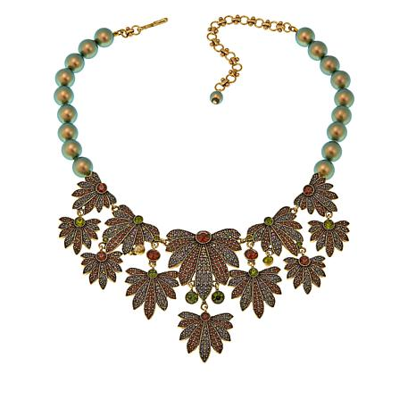 "Heidi Daus ""Ohh Natural"" Beaded Crystal Drop Necklace"
